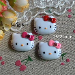 Wholesale 22 mm mix Kawaii hello kitty style DIY Flat back Resin Cabochons Jewelry Fit Mobile phone Hair clip accessory