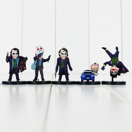 3.5-6cm Marvel Heroes The Joker with tag PVC Action Figure Collectable Model Toy for kids gift free shipping EMS