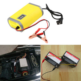 Wholesale 12V A Motorcycle Car Auto Storage Battery Charger Intelligent Charging Machine Portable Adapter Power Supply LCD display Lead acid gel Type