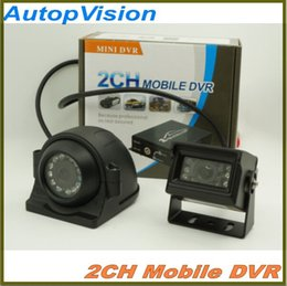 Wholesale 2CH Mobile DVR Bus Vehicle Security DVR with Alarm Motion Detective Hours Monitor Support SD Card Upto GB Remote Control with camera