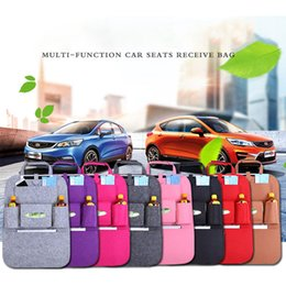Wholesale Car Organizer Auto felt multifunctional Storage bag Automobile Back Seat Bag For Phone and Pad Big Space Extended
