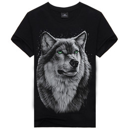 2016 New Fashion Men's Cool 3d Print Cotton T Shirt Men 3D Tshirt Animal Causul T-Shirts