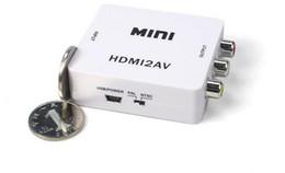 2016 convertisseurs vidéo Adaptateur Livraison gratuite DHL HDMI2AV 1080P HD vidéo mini-HDMI Convertisseur AV CVBS + L / R HDMI vers RCA, 20pcs / lot bon marché convertisseurs vidéo