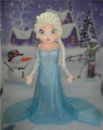 Wholesale Costume Woman Mascot - 2015 new style Elsa mascot costume cartoon princess elsa performing costumes walking mascot costumes for adult size
