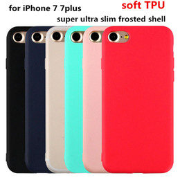 Wholesale iPhone7 Micro grinding matte frosted ultra slim candy colors soft TPU case back cover shell for iPhone plus s