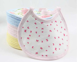 Wholesale 2016 New Hot customizable Baby cotton infant bibs baby bibs small sandwich bibs baby products sold by package