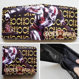 Game God of War Kratos Logo wallets Purse Multi-Color 12cm Leather New Hot W207