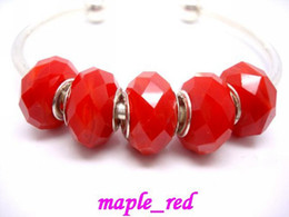 Wholesale in Bulk Low Price 50pcs Lot Red Jade color Faceted Crystal Beads for Jewelry Making Loose Charms DIY Beads for Bracelet