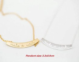 Hot new fashion necklace arc small letters pendant necklace gold-plated silver plating rose gold jewelry gifts for women