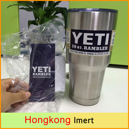 Wholesale Free DHL Powder Coated oz Yeti Rambler YETI Coolers Rambler Tumbler Stainless Steel Pink Double Walled Travel Mug Pink YETI cups