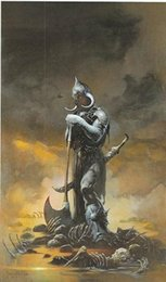 Wholesale quot Death Dealer quot by Frank Frazetta genuine Hand Painted Classic Famous Fantasy Fine Art Oil Painting Canvas any customized size accepted