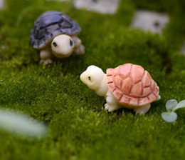 Wholesale Artificial Cute Tortoise Animals Fairy Garden Miniatures Mini Gnomes Moss Terrariums Resin Crafts Figurines for Garden Decoration Home Sale