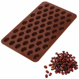 Wholesale Hot Sale Coffee beans Cake Tools Fondant Kitchen Bakeware Silicone Metal Non Stick Cupcake Baking Tray Mousse Coffee Cake Mold