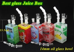 Wholesale New Best Oil Burner Pipe Vape Glass Juice Box Bong Glass Water Pipes Vape Juice Box Oil Rigs Beaker Bong