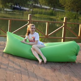 Wholesale Outdoor Air Sleep Sofa Inflatable Sofa Sleeping Beach Bag Couch Portable Furniture pads Hangout Lay bag Inflate Air Bed