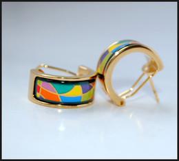 Enjoy Life Series Hoop earring 18K gold-plated enamel earrings for woman Top quality hoop earrings
