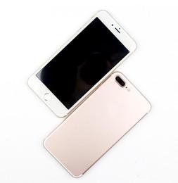 Wholesale 4 Inch Goophone i7 plus MTK6580 quad Core real Unlock fingerprint Android G WCDMA Goodphone Smart Mobile Phone