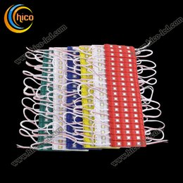 Led light module SMD5050 3 Led Module Injection Waterproof Dc12v for channel letter board White red green yellow blue free Shipping