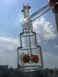 Wholesale Hitman logo glass bong Birthday Cake design Concentrated Vapor Charles Manor with mm joint size hookahs new coming water pipes