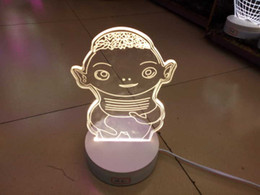 2016 new smart 3D cartoon lighting LED 5W fashion house desk lamp creative visual night lights gift retail box Hu Ba table lamp