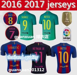 Wholesale Top Thailand quality Barcelona jersey SUAREZ MESSI NEYMAR JR Sports uniform shirts