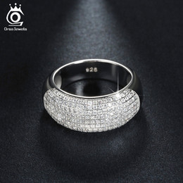 ORSA JEWELS Beautiful 168 Pieces Cubic Zircon Diamond Ring White Gold Plated Women Rings Fashion Jewelry Wholesale OR122