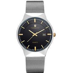 TW1636 3ATM brand ultra thin Luxury men's leisure sports quartz watch reloj stainless steel Relogio dress automatic date genuine wristwatch