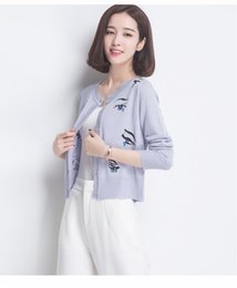 Wholesale Parity run quantity contracted addiction off for cost effective exquisite knitted fabric cardigan style fashion all match female coat