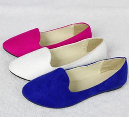 Wholesale Women Shoes Flat Pumps Flat Ballet Shoes Lady Shoes Pumps New Ladies Womens Faux Suede Shoes Ballerina Slip Pump Dolly Shoes Designer Women