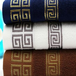 Wholesale New arrivals pure cotton gift towel more authentic plain satin back word lines towel DHL free