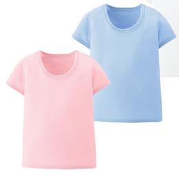 Summer Style Baby & Kids T-shirt Breathable Hollow Cotton Tee Shirts 7 Sizes Mix Color 30pcs lot