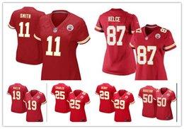 Wholesale 2016 women football Jerseys Maclin KansasCity cheap Chiefs Alex Smith jerseys elite authentic football shirt size S XL