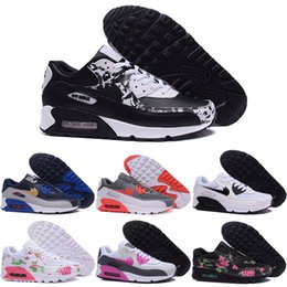 Wholesale 2016 Online Cheap Running Shoes Men Women Max90 High Quality New Max Sneakers Cheap Men s Women Sports Shoes