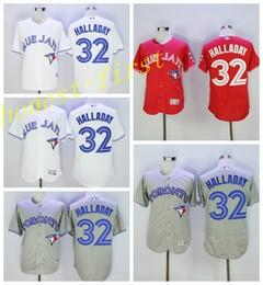 Wholesale Hot Sale Roy Halladay Jersey Toronto Blue Jays Baseball Jerseys Flexbase Cool Base All Stitched Home Road Red Grey White Blue
