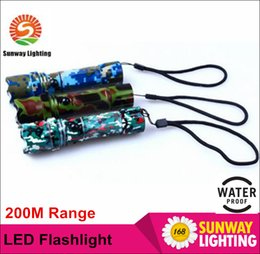 Wholesale LED outdoor Flashlights Camouflage appear for Camping M shine range Cree LED modes Aluminium alloy resale package charger