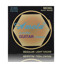 Amola Nickel Alloy E1300 010 Regular light gauge Electric Guitar Strings