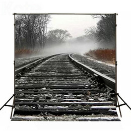 5x6.5ft Photo background Railway train stones photography backdrops Cotton, Seamless for Children photography backdrop LK3091