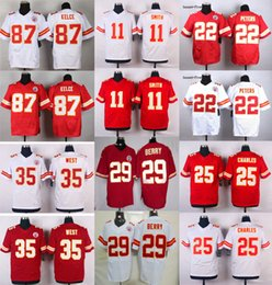 Wholesale Chiefs Elite Mens Stitched Travis Kelce Eric Berry Marcus Peters Alex Smith Jamaal Charles Jerseys Free Drop Shipping