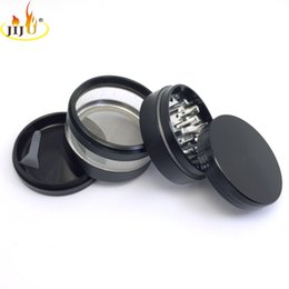 Wholesale herb grinder smoking grinder size CNC high quality grinder for herb and tobacco cnc teeth tobacco grinder with side window mm