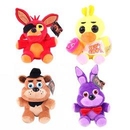 HHA620 jeu 15CM-25CM Cinq nuits à Plush Bonnie Freddy / Foxy / Freddy / Chica Peluche Stuffed souples Cadeaux Poupées bébé à partir de jeux anime vidéo fournisseurs