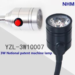 Wholesale NHM W LED CNC mill lethe work light machine surface fixture lamp Aluminium housing Flexible gooseneck China Patent product