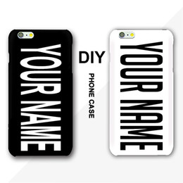 Wholesale DIY Name Phone Case For iPhone S S Plus Inscription Text Black Background Letter or Photo Customized Cover For Samsung HTC