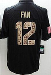 Wholesale Seattle Fan Wilson Harvin Lynch Sherman Thomas III Men s Black Salute to Service American football Jerseys