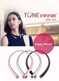 HBS 910 HBS-910 Headphone HBS910 Earphone Sports Stereo Bluetooth 4.0 Wireless Headset Headphones With Package US02