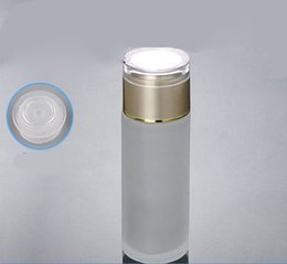 120ml frosted glass bottle with gold lid lotion toner bottle ,Cosmetic Packaging glass bottle