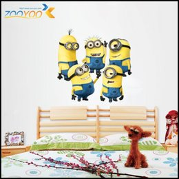 Wholesale ZooYoo1404 ZY New Design Despicable Me Minions Movie Decal Removable Wall Sticker Home Decor Art Kids Nursery Loving Gift