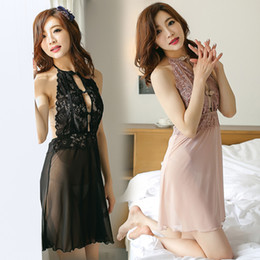 Wholesale See Through Nightgown Woman - Wholesale-free shipping 2016 summer style see through bra sexy nightgown for women fashion royal luxury lace & mesh sleepwear nightwear