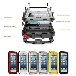 Wholesale Hot selling Waterproof Metal Case Hard Aluminum Dirt Shock Proof Mobile Cell Phone Cases Cover For iPhone plus Samsung S5 S6