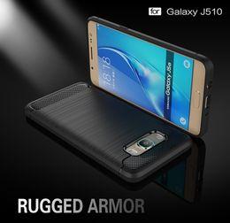 For Samsung Galaxy J510 Case Carbon Fibre Phone Cover For Samsung Galaxy J510 Cases