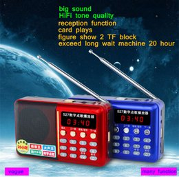 Multifun ctional Mini Portable Digital FM Radio Speaker USB TF Card Mp3 Music Player with LED Light and Rechargeable Battery